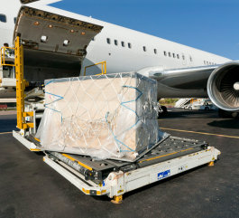 cargo plane ready to fly
