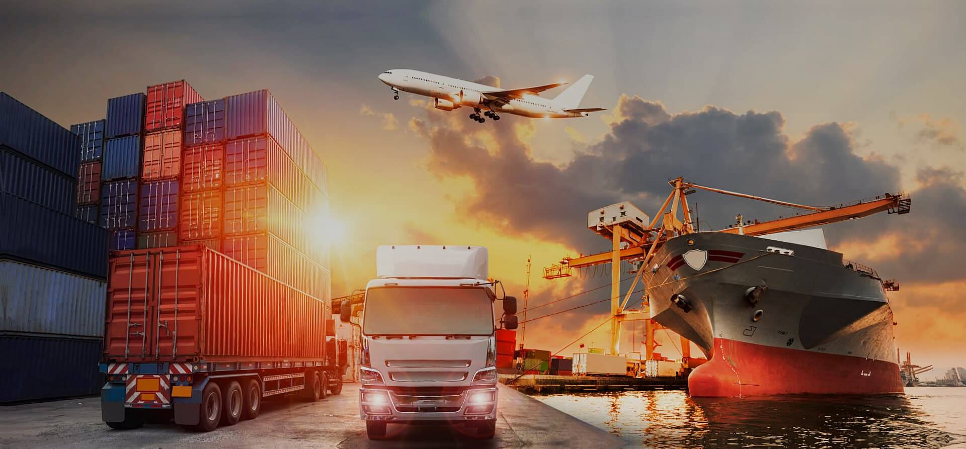 cargo truck and airplane
