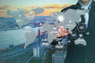 logistics world map